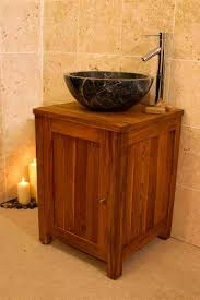 bathroom decoration using single solid wood beam bathroom vanity