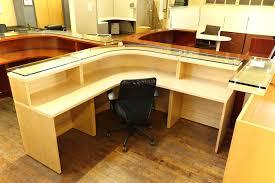 Maple Office Desks Baldwin Glass Top Maple Reception Desk Peartree Office Furniture