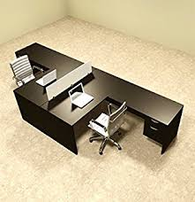 amazon com two person l shaped divider office workstation desk