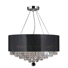 Acrylic Crystal Chandelier Drops by Worldwide Lighting Gatsby Collection 8 Light Polished Chrome And