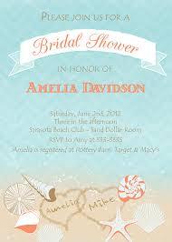 Beach Theme Wedding Invitations Beach Theme Wedding Shower Invitations 7257