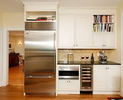 kitchen contemporary ivory kitchen cabinet with bookshelf glass