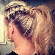 layer hair with ponytail at crown fun pony tail if only i had enough patience to do this to my hair