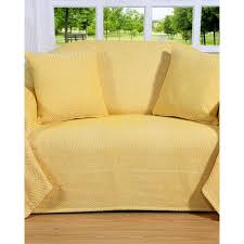 plaid canapé plaid ou jeté de canapé halden jaune à motif chevrons en coton 150