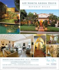 Estate Feature Sheet Template Ad Design For Exclusive Broker S Open House Mitzi Gaynor S 610