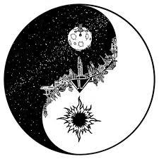 sun moon yin yang on we it