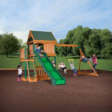 amazon com backyard discovery montego bay all cedar wood playset