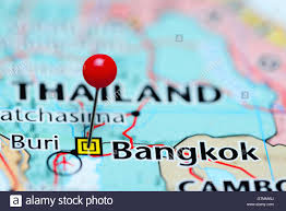 Map Of Thailand Bangkok Pinned On A Map Of Thailand Stock Photo Royalty Free