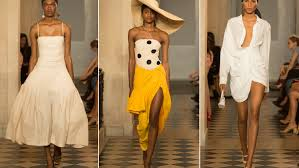 shortest skirts jacquemus opens pfw with the hats the shortest skirts