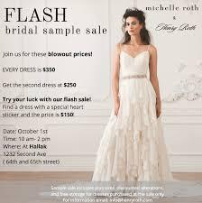 Sample Sale Wedding Dresses Bridal Sample Sale