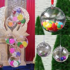 100x 2 clear plastic diy tree hanging bauble