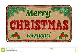 merry everyone vintage metal sign stock vector image