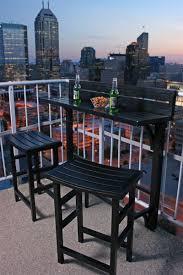 Balcony Bistro Set Patio Furniture by Amazon Com Miyu Furniture 3 Piece Balcony Bar Onyx Patio