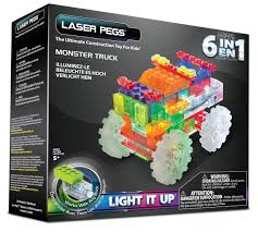 monster truck show missouri amazon com laser pegs 6 in 1 monster truck building set toys u0026 games