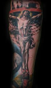 religious half sleeve ideas gloss