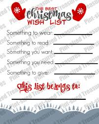 christmas wish list the best printable christmas wish list for kids pint sized