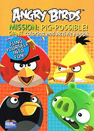 amazon angry birds giant coloring activity books 2 book
