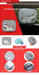 oem cartoon car sunshade sun blind protector mesh shade window