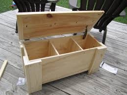 diy outdoor storage with lid and leg as bench seat ideas