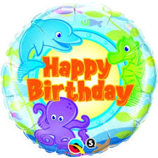 helium birthday balloons happy birthday balloons sea animal theme helium filled balloon
