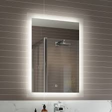 Bathroom Mirror With Lighting Bathroom Mirrors With Led Lights And Shaver Socket Bathroom