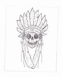 indian headdress skull by tbrown61 on deviantart