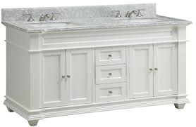 Cottage Bathroom Vanities by 60 Inch Bathroom Vanity Cottage Style Shaker White Cabinet Carrara