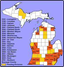 Oakland County Michigan Map by Map Of Divisions