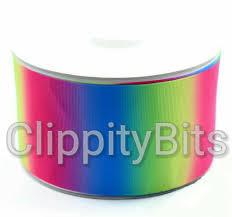 3 inch grosgrain ribbon 3 inch 75mm pastel rainbow ombre grosgrain ribbon 1 meter