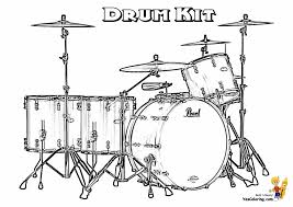 drums coloring page majestic musical drums coloring drums free