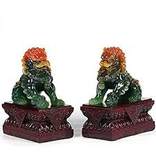 foo dog bookends small pair of asian foo dogs and home