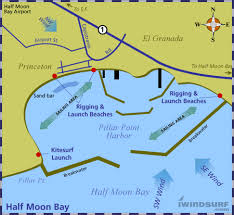 california map half moon bay iwindsurf map for half moon bay