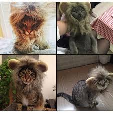 Dog Halloween Costume Lion Mane Pretended Jungle King Pet Dog Cat Artificial Lion Mane Wig