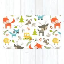 Childrens Area Rugs Childrens Area Rugs Rug Woodland Animals Print Bath Mat
