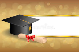 graduation cap frame abstract background beige education graduation cap diploma bow