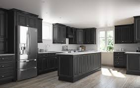 go to the dark side with semi custom black cabinets from