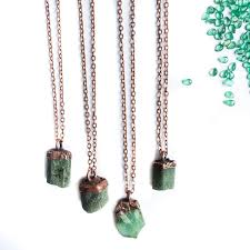 emerald stone necklace jewelry images Emerald crystal necklace raw emerald necklace rough etsy jpg