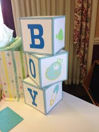 Baby Shower Centerpieces Boy by Mrs Crafty Adams Baby Shower Decorations Baby Blocks
