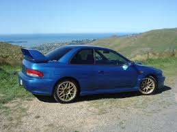 subaru impreza modified blue subaru impreza 22b