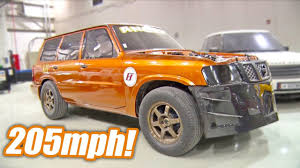 nissan mini 2000 2 000hp nissan patrol 205 mph record youtube