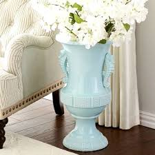 Beautiful Vases Beautiful Pale Blue Coastal Vases With Seahorse U0026 Beach Glass