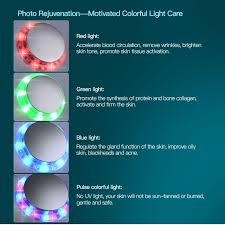 ultraviolet light therapy machine photon skin machine rejuvenation light therapy face lift cleaner