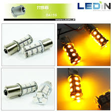 2x amber high power 18 smd led front turn signal light bulb 1156