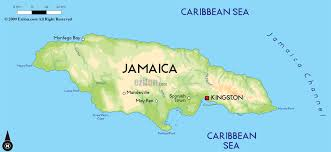 jamaica physical map road map of jamaica and jamaica road maps