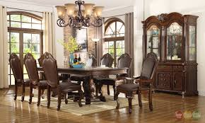 pedestal kitchen table and chairs chateau traditional 7 piece formal dining room set pedestal table