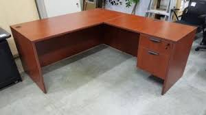 Office Desk With Locking Drawers Cherry L Shape Office Desk With Locking Drawers Liquidators