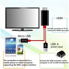 how to connect android phone to tv micro usb mhl to hdmi av tv adapter converter cable cord lead for