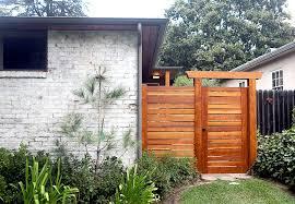 Backyard Gate Ideas Fence Gate Ideas Landscape Beach Style With Flagstone Path