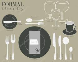 Formal Table Settings Formal Table Setting Stock Vector Commonthings 73767471
