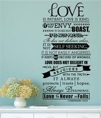 love is patient love is kind christian bible verse vinyl decal